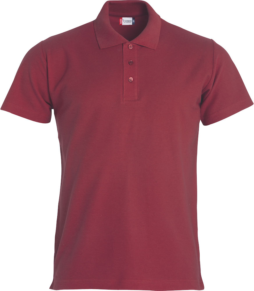 Basic polo bordeaux