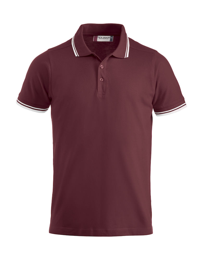 Basic Amarillo polo bordeaux