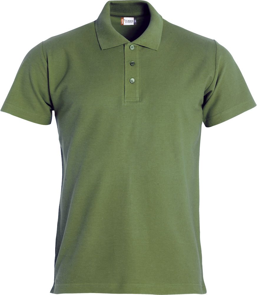 Basic polo legergroen