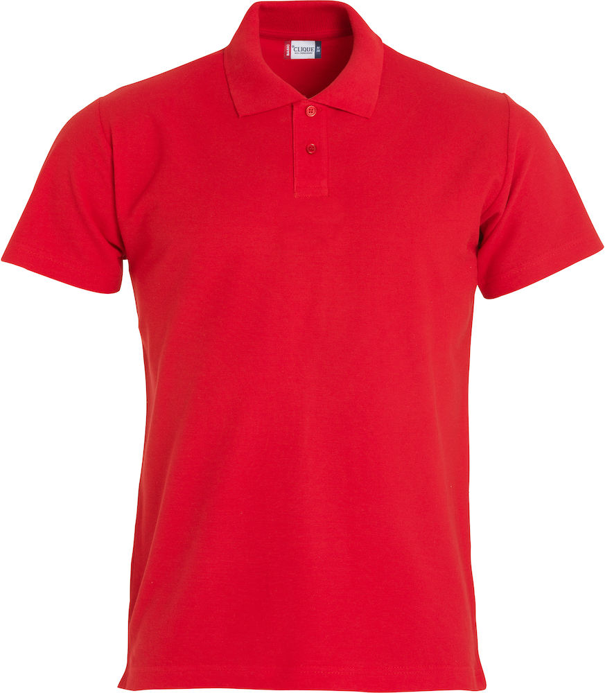 Basic kinder polo rood