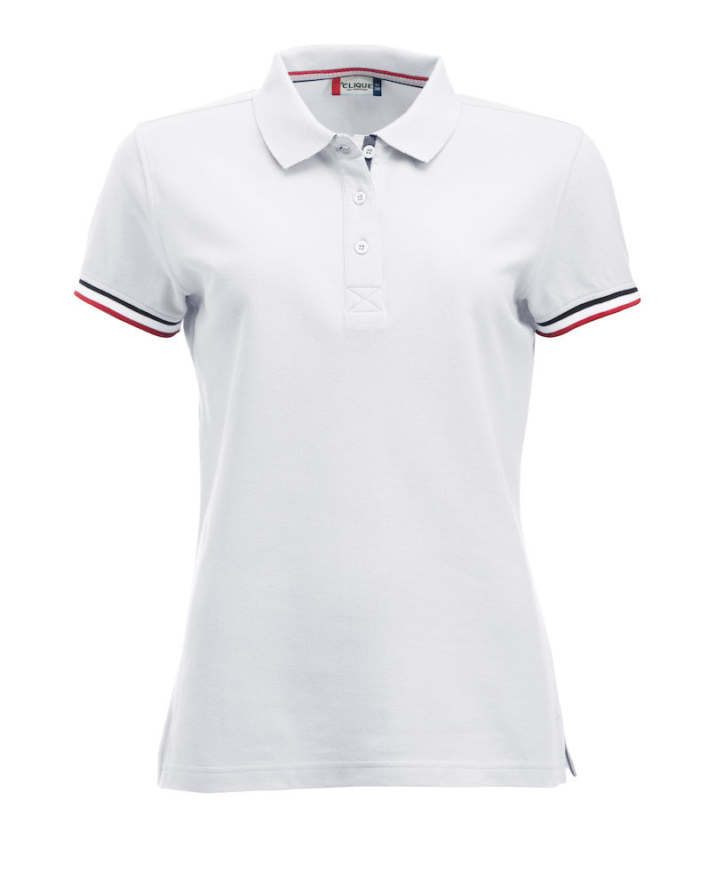 Classic dames polo polyester katoen wit